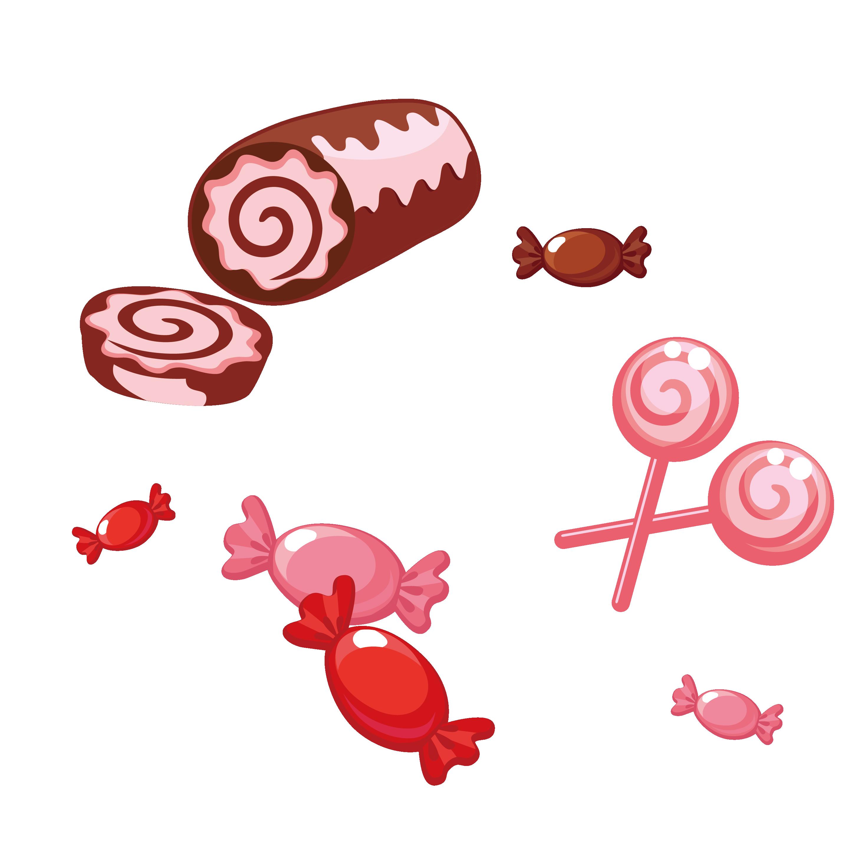Clipart hearts lollipop. Candy cartoon cute little