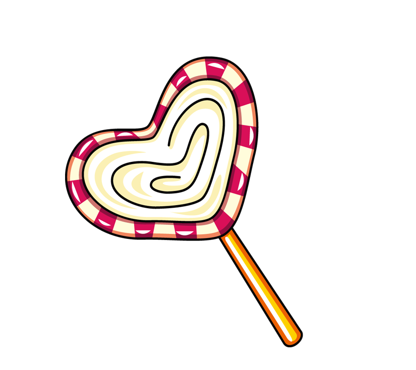 Clipart hearts lollipop. Cartoon clip art love