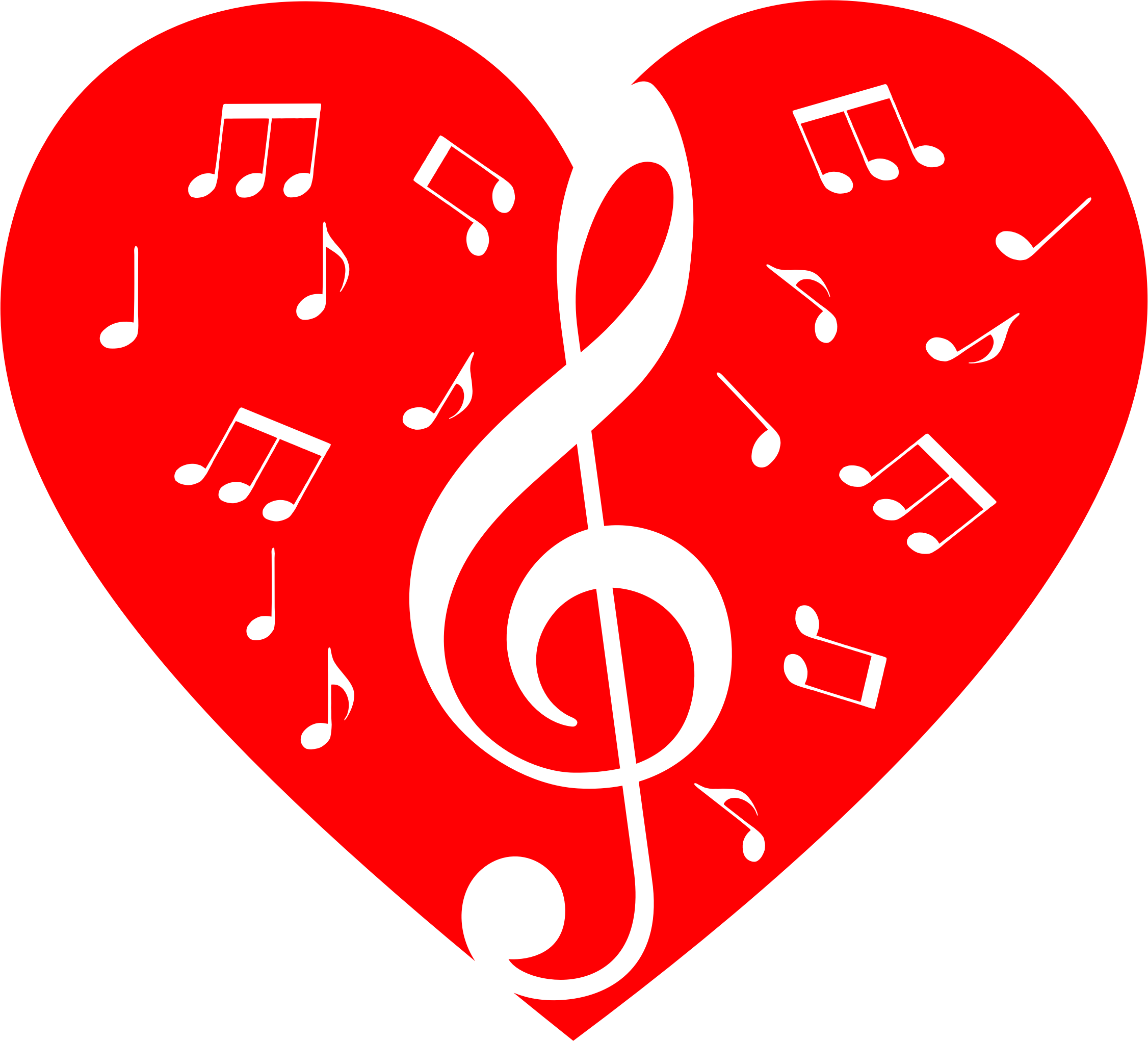 collection of note. Hearts clipart music