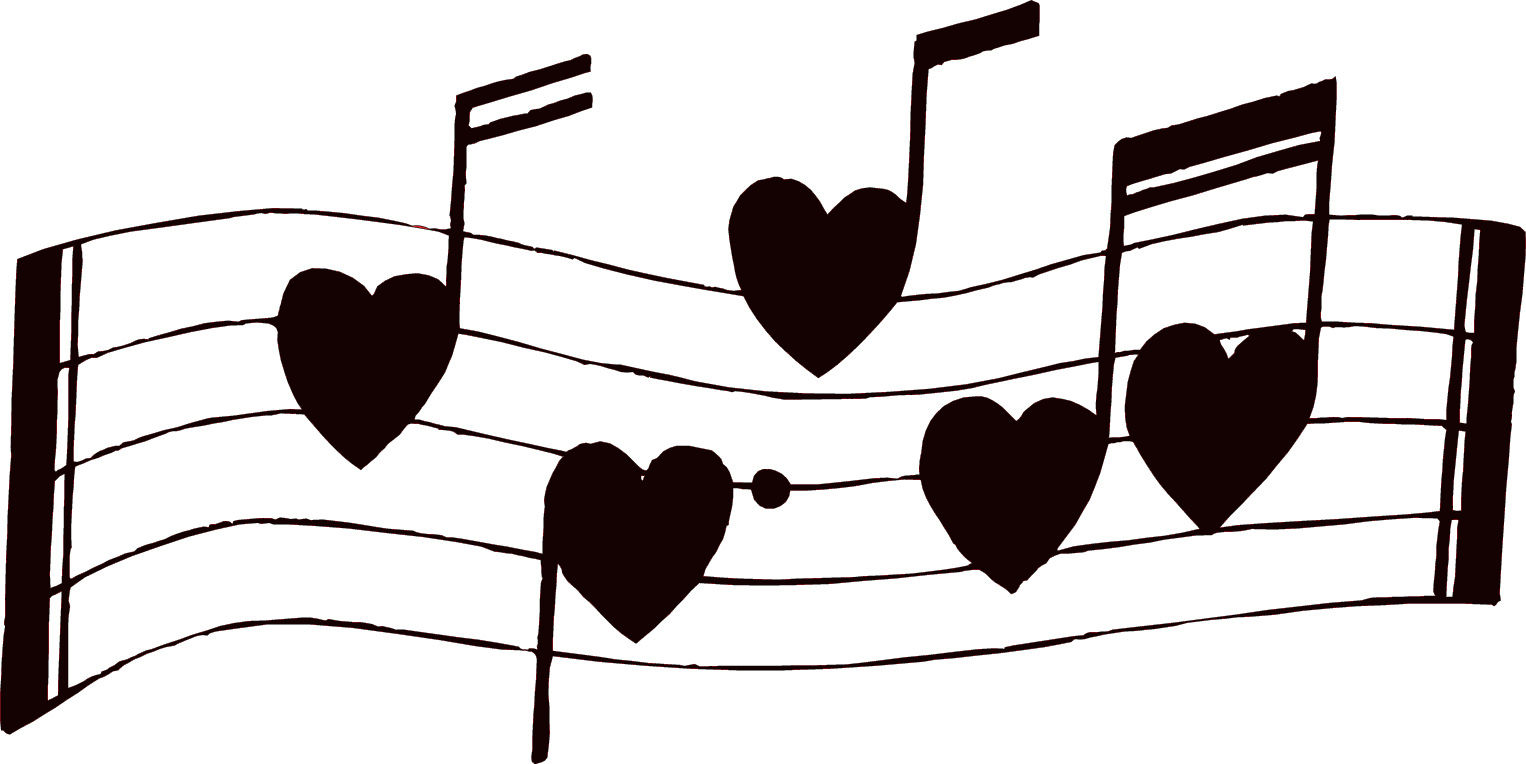 Music clipart heart. Notes panda free images