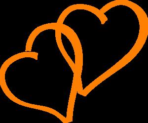 Hearts clipart orange. Clip art at clker