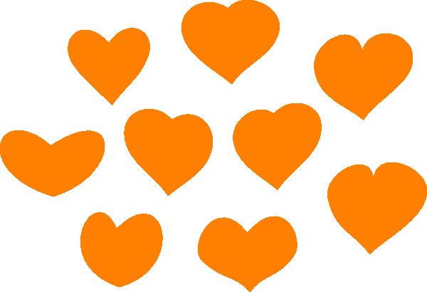 Clip art at clker. Hearts clipart orange