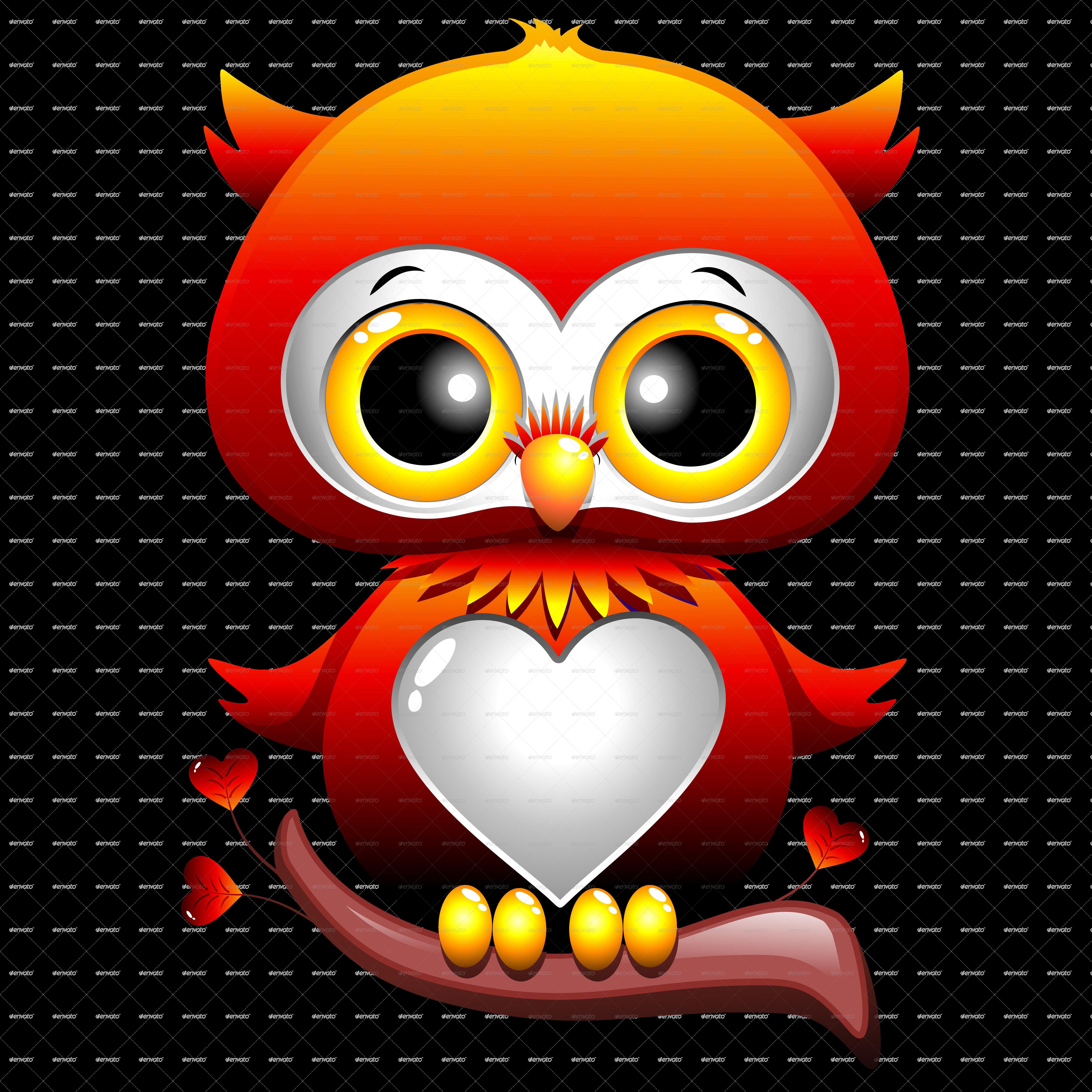 Baby love heart cartoon. Clipart hearts owl
