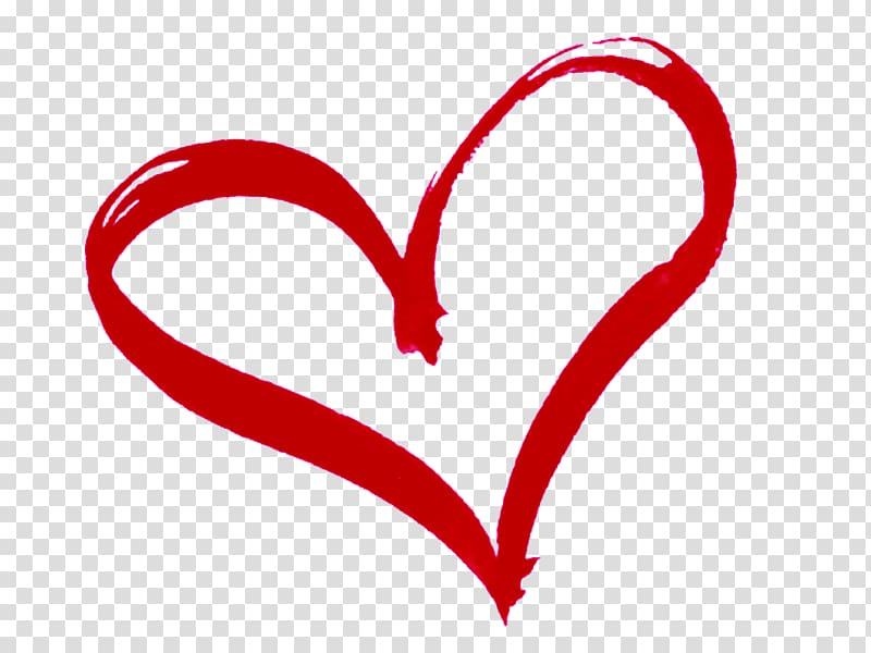 Hearts clipart paint. Red heart stroke illustration