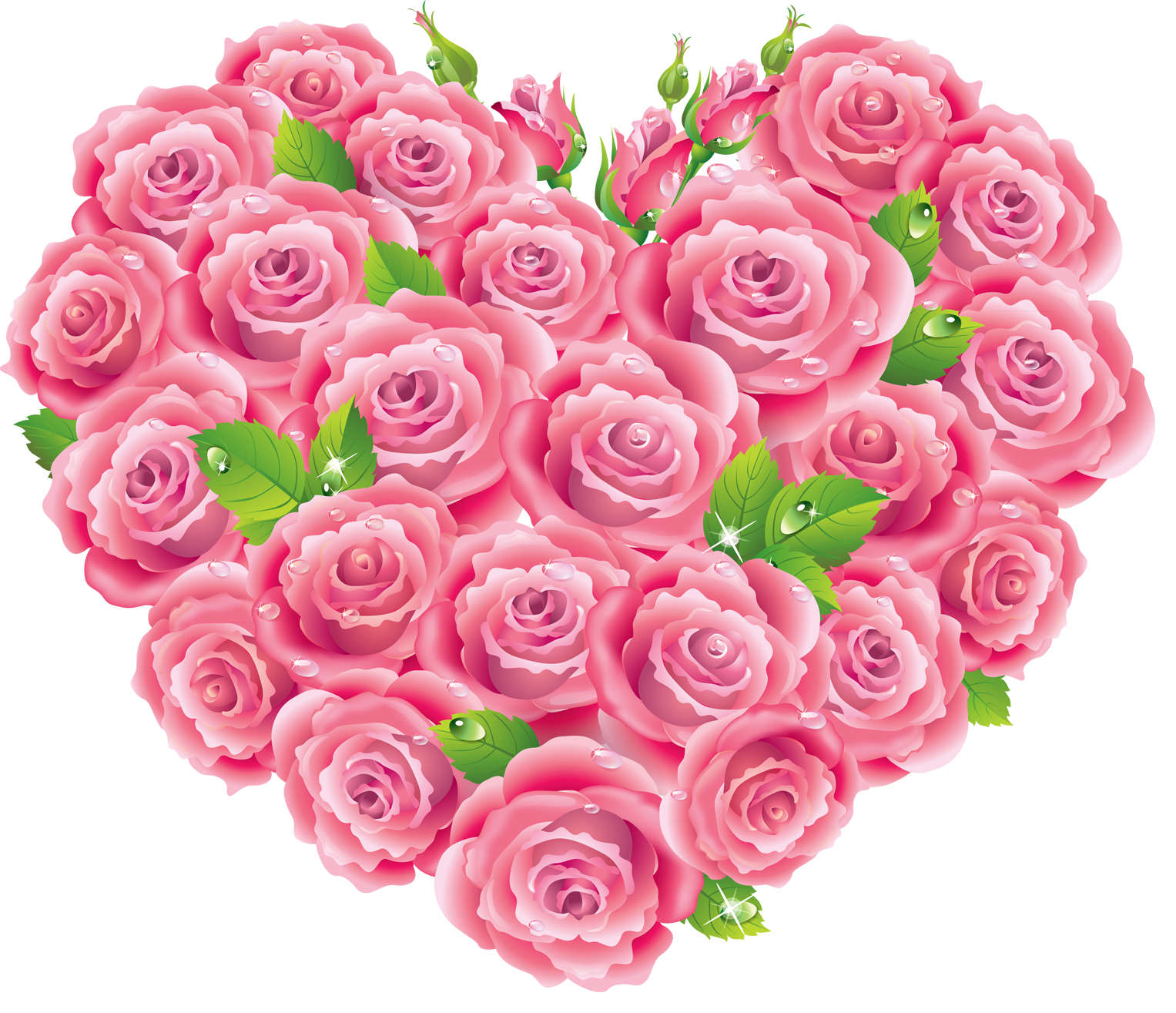 Roses heart gallery yopriceville. Clipart hearts pink