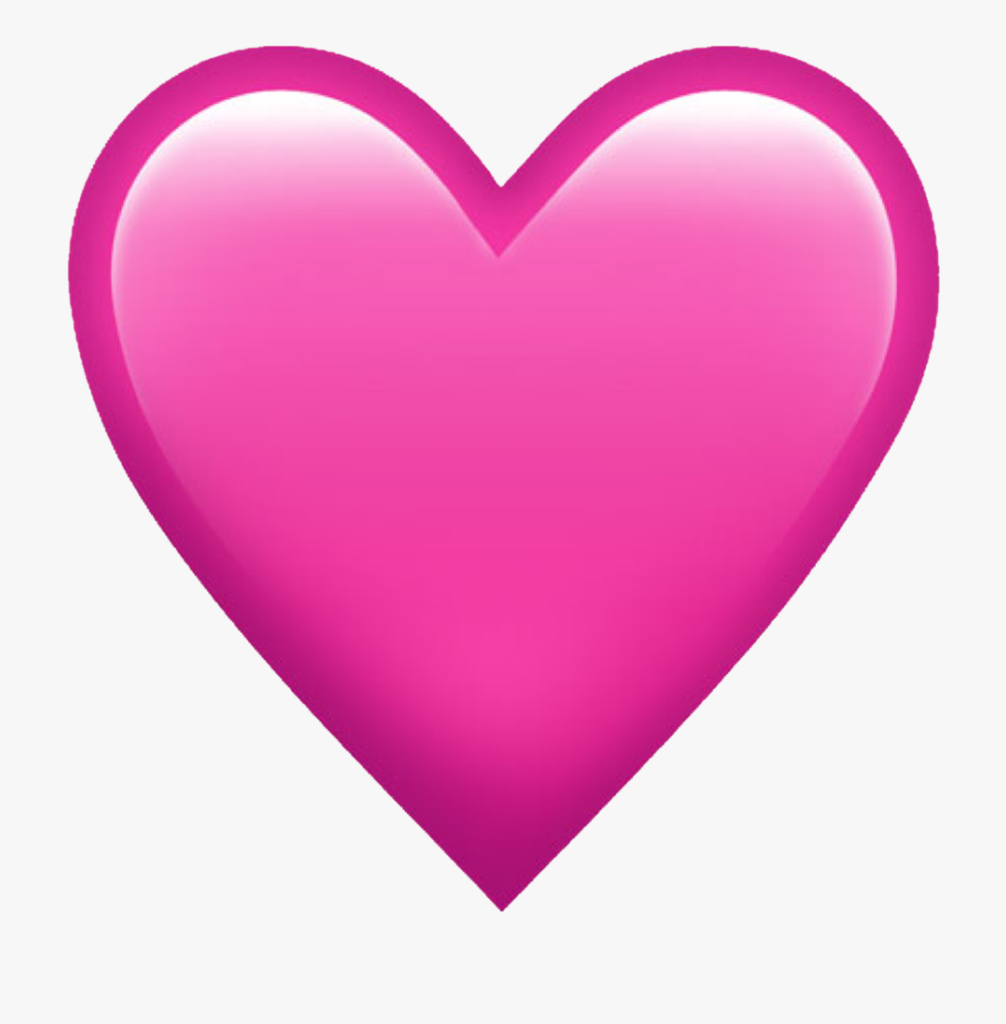 Emoji pink iphone whatsapp. Heat clipart colorful heart