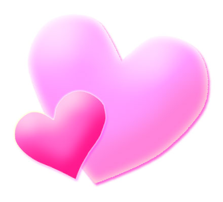 Free images of download. Clipart hearts pink