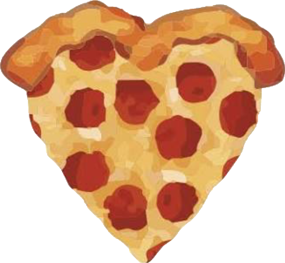 Heart clipart pizza. Png cute rainy