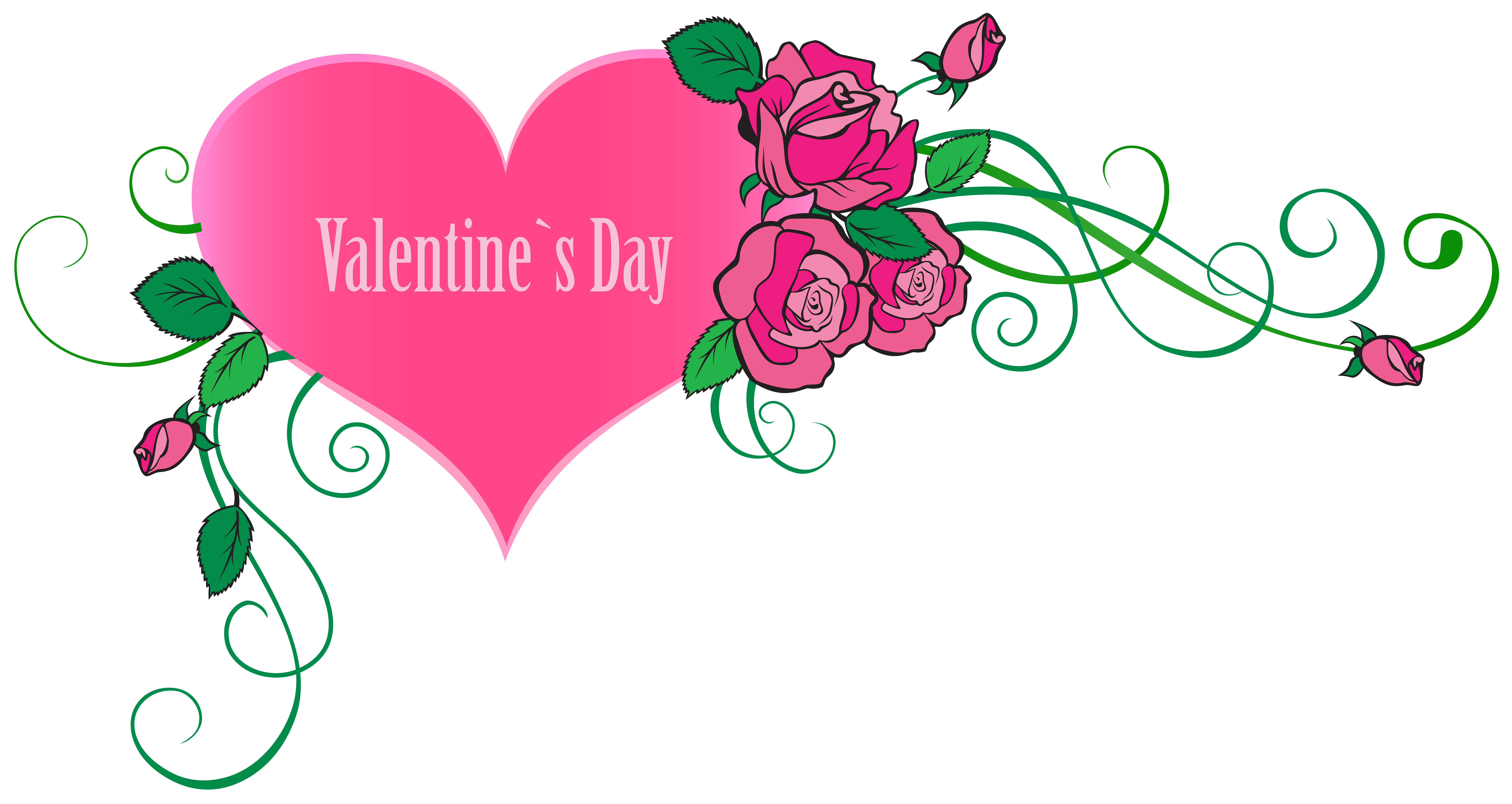 Happy valentine s day. Clipart hearts plant
