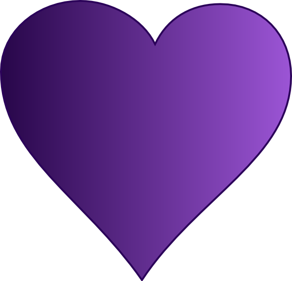 Heart clip art at. Hearts clipart purple