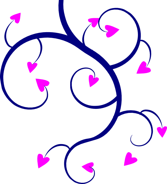 Hearts clipart swirl. Clip art at clker
