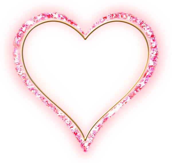 Hearts clipart heartbeat. Pink diamond transparent frame