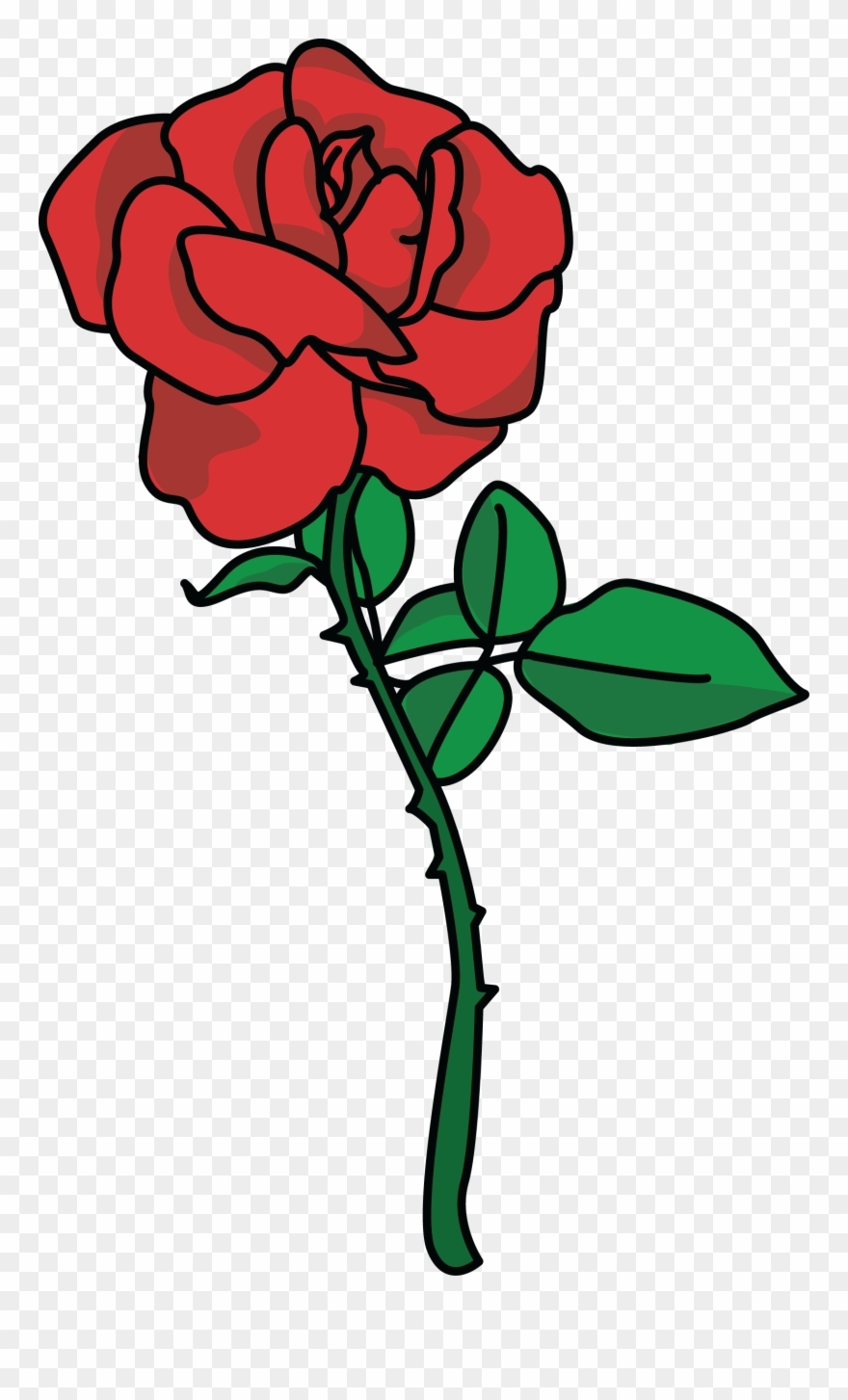 Clipart roses high resolution. Large pink rose heart