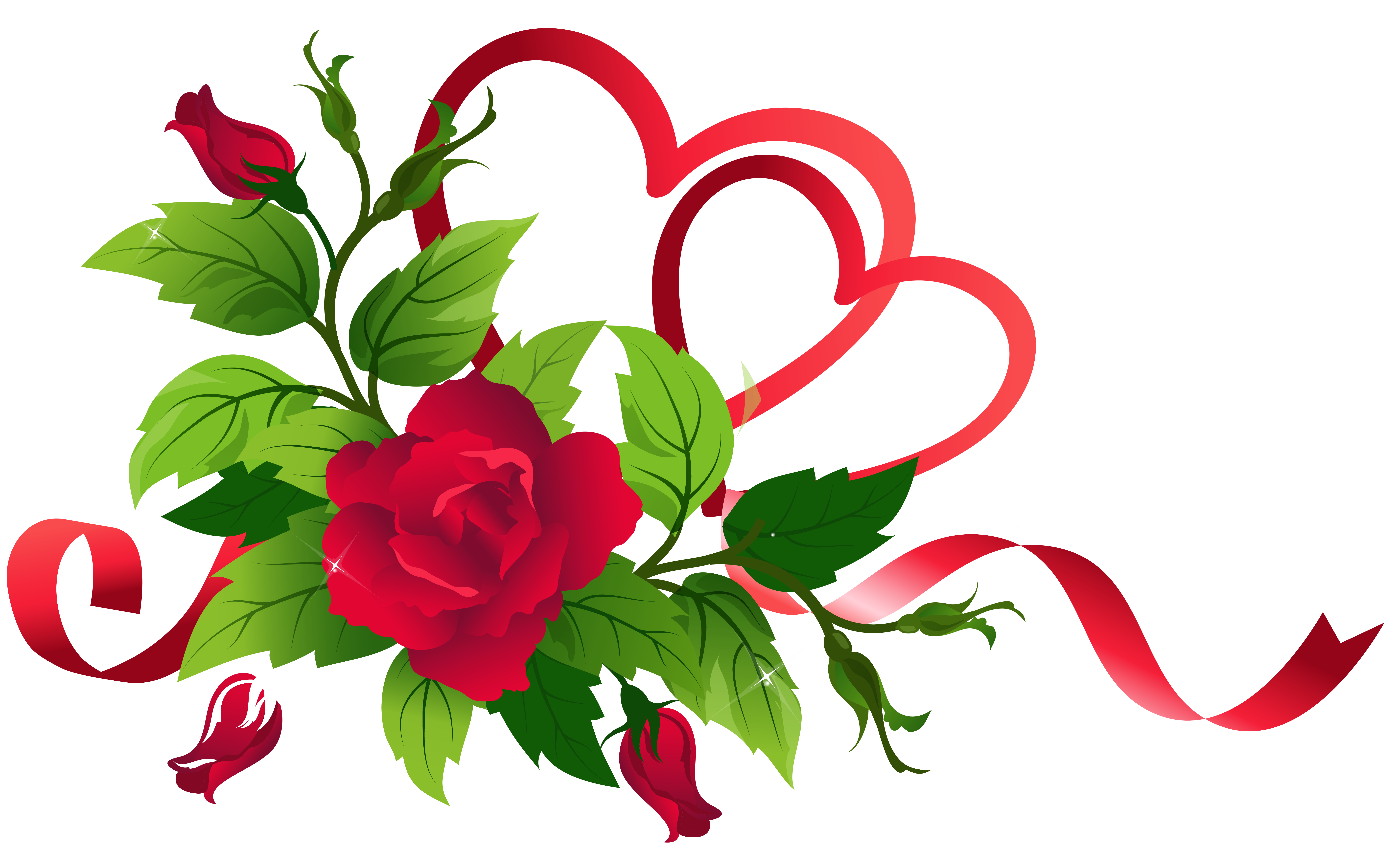 Clipart hearts rose. Transparent and roses decor