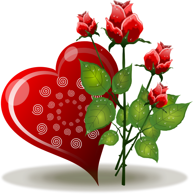 Free heart cliparts download. Hearts clipart rose