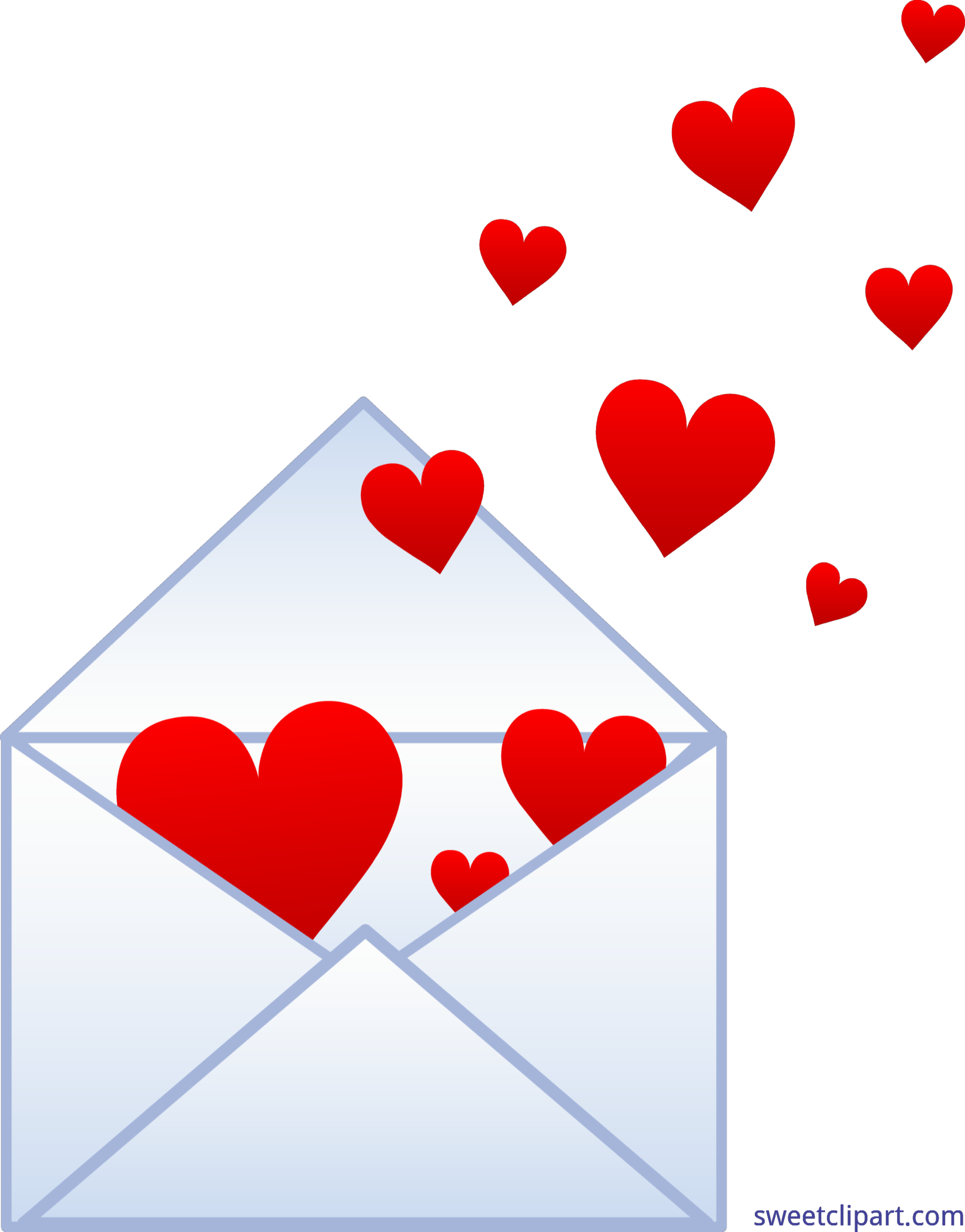 Hearts clipart science. Envelope clip art sweet