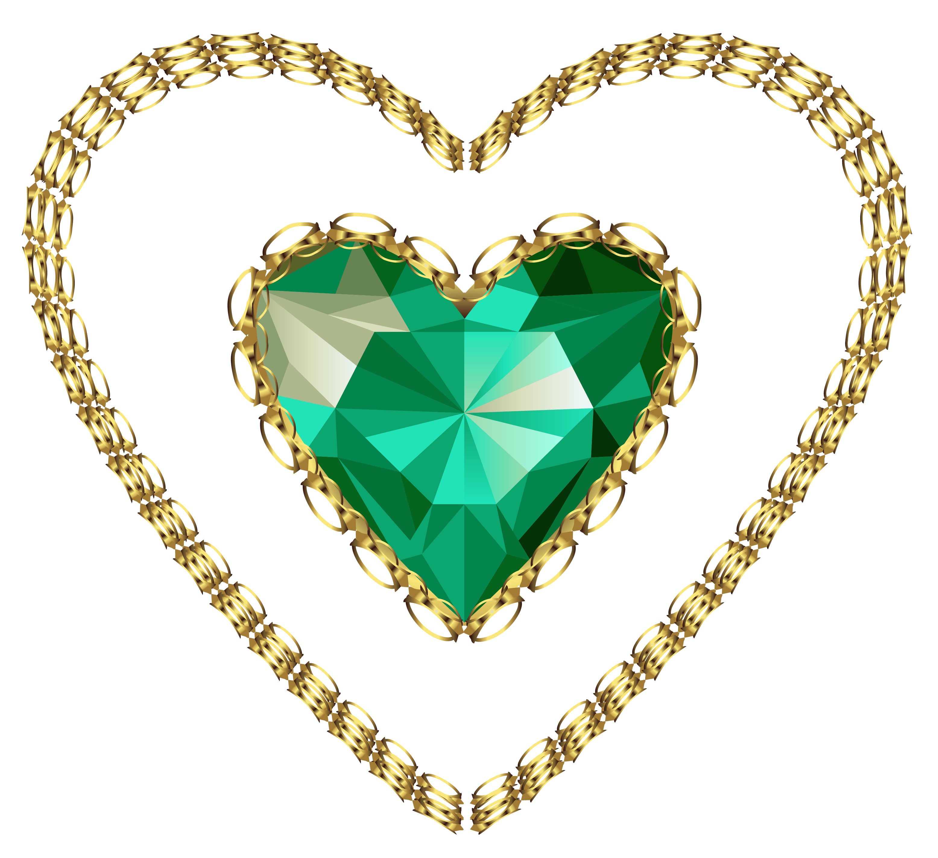 Heart png gallery yopriceville. Necklace clipart emerald