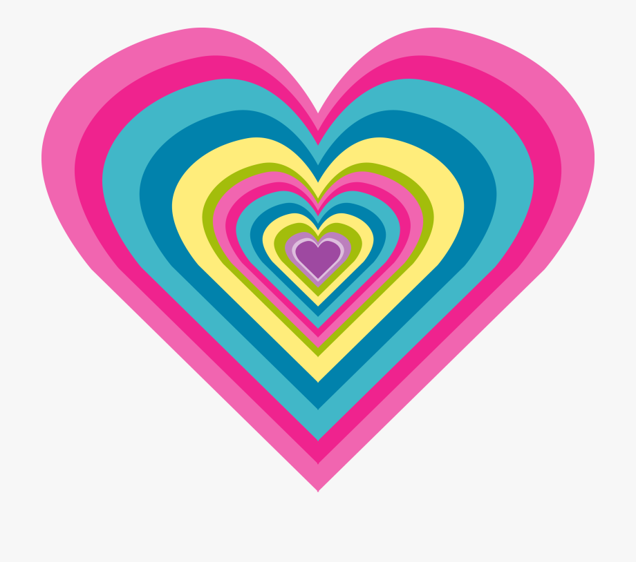 Free heart pink rainbow. Clipart hearts scrapbook