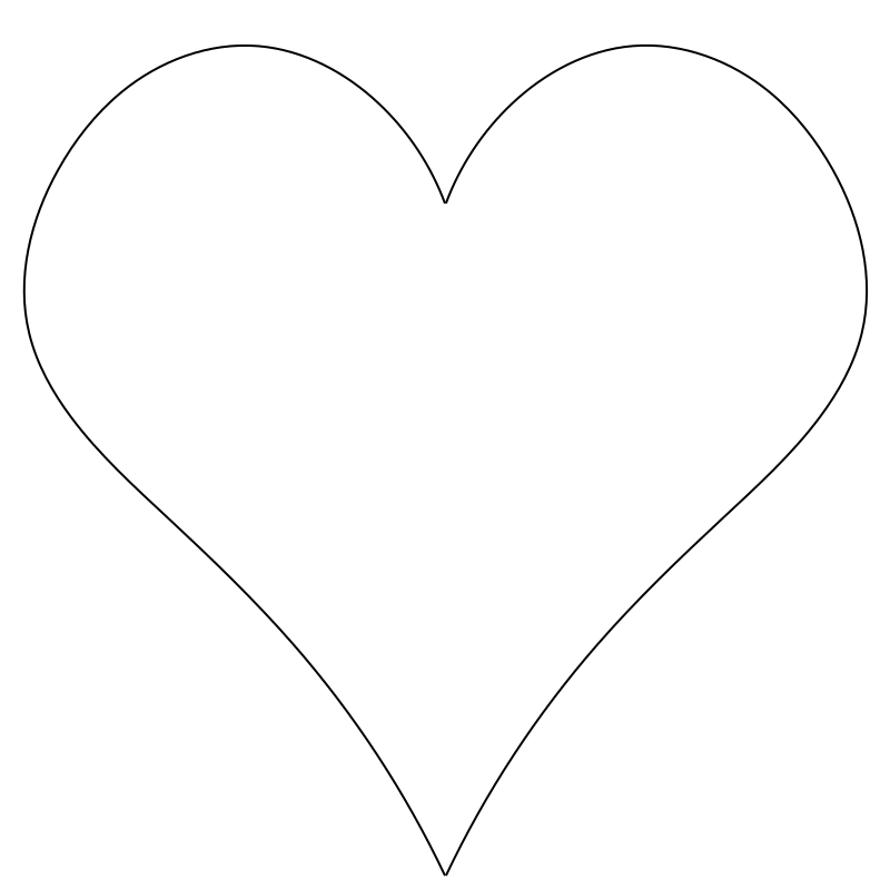 Youtube clipart plain. Basic starting heart symbol
