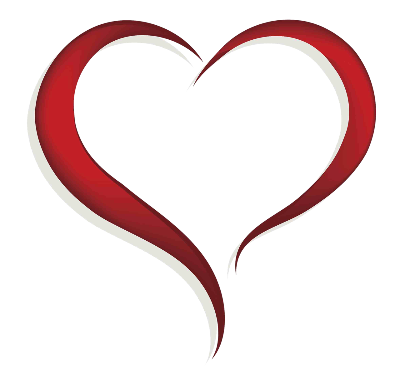 Hearts clipart dagger. Free heart outline download