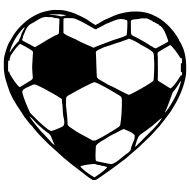Free heart sports cliparts. Hearts clipart soccer
