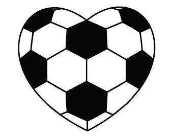 Hearts clipart soccer. Ball heart etsy
