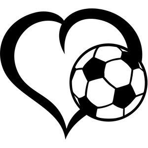 Ball silhouette free download. Hearts clipart soccer