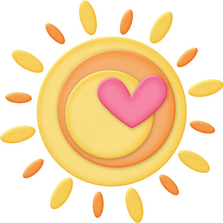 Yellow heart free download. Hearts clipart sun