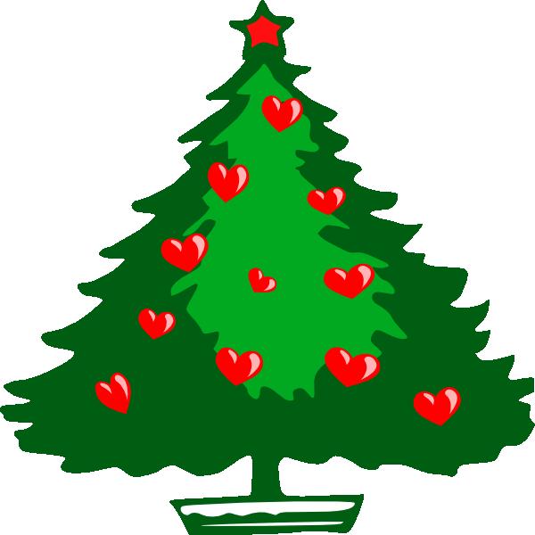 Hearts clipart tree. Christmas clip art at