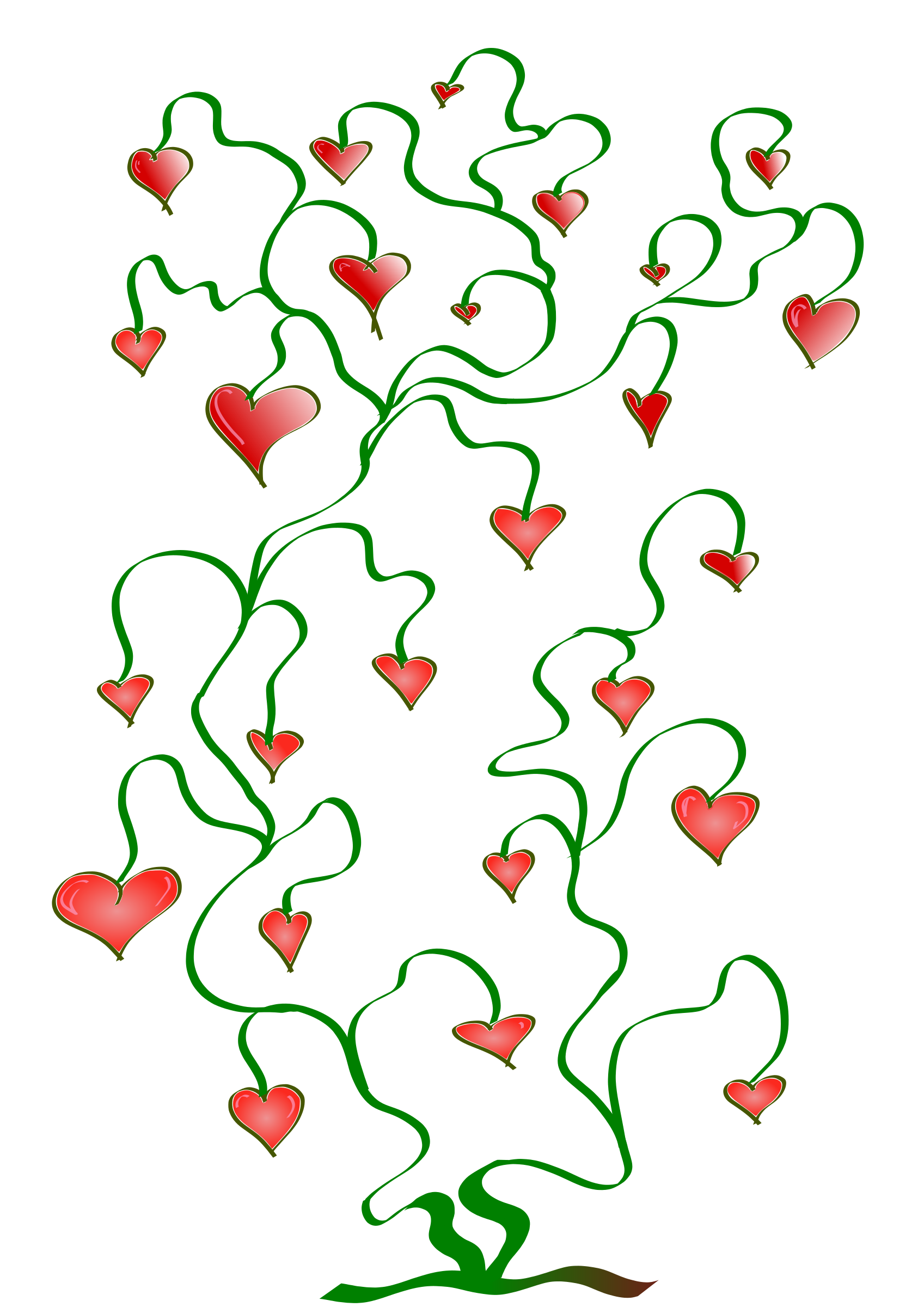 Of big image png. Hearts clipart tree