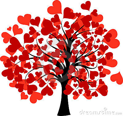 Valentine clipart tree. Free hearts cliparts download
