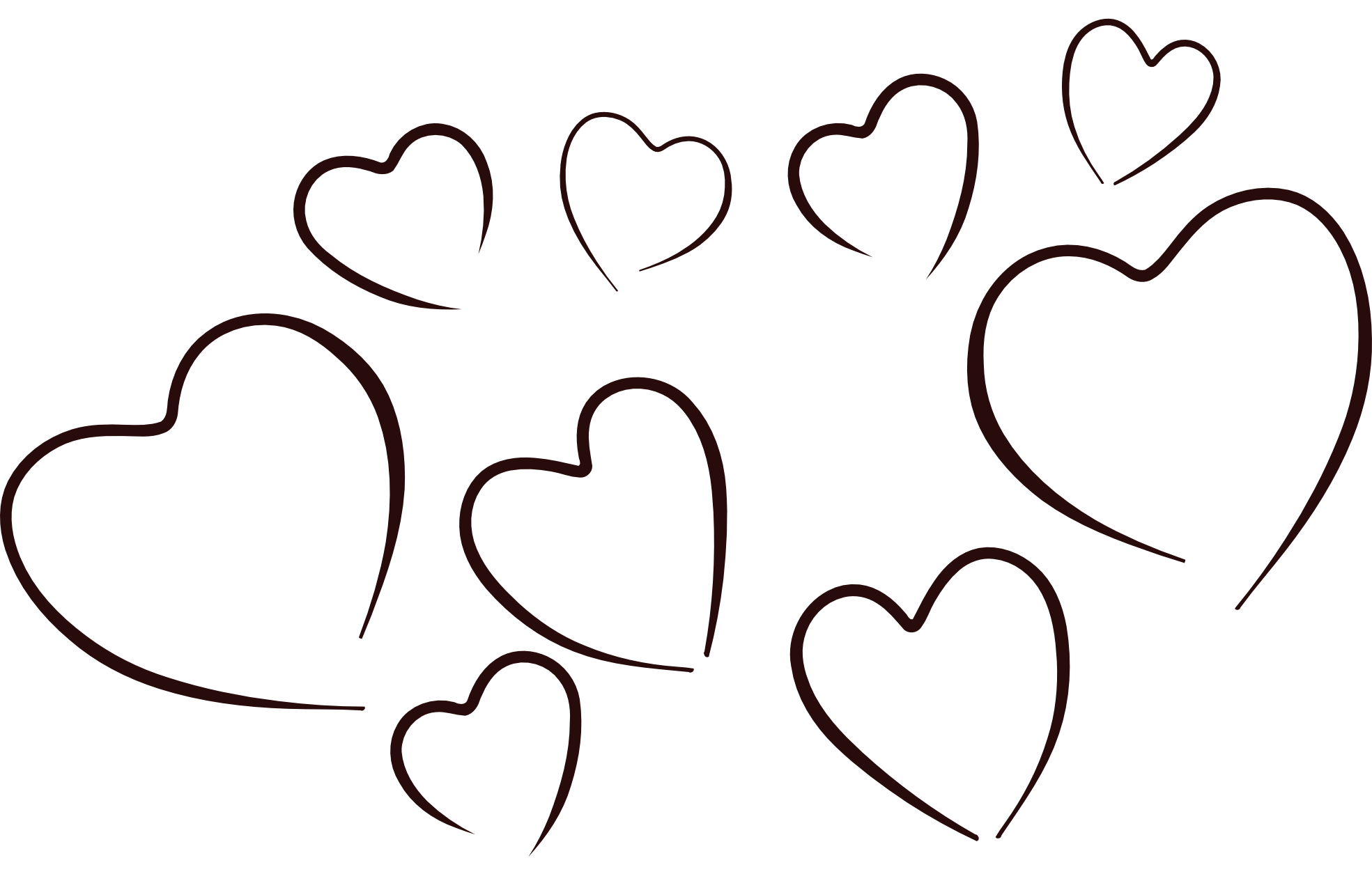 Heart clip art row. Hug clipart black and white