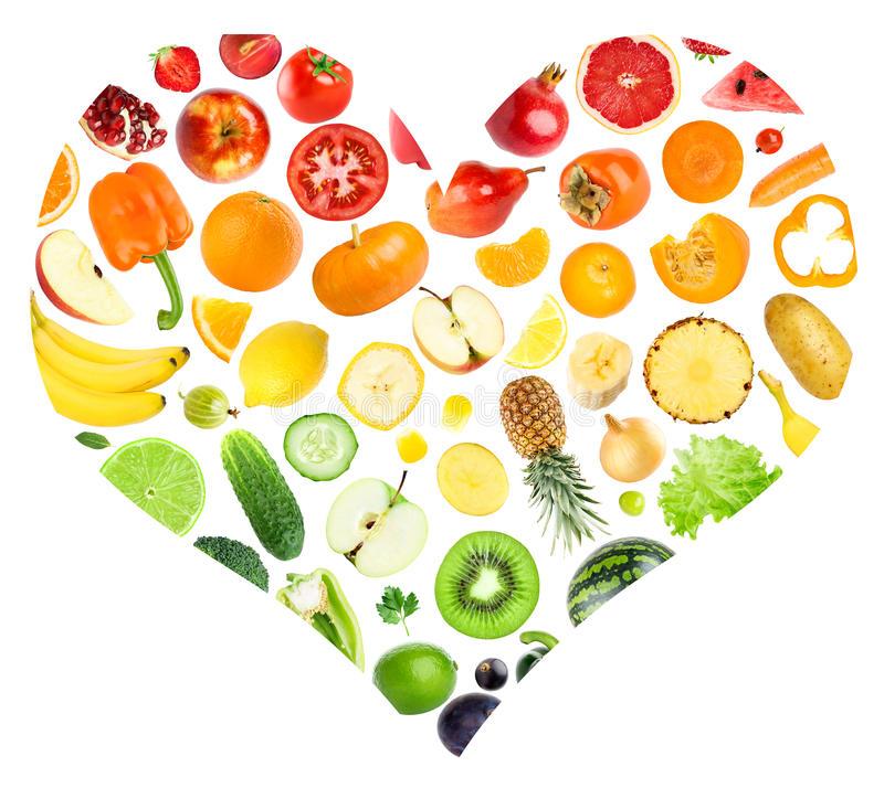 Vegetables clipart heart. Clip art fruit arts