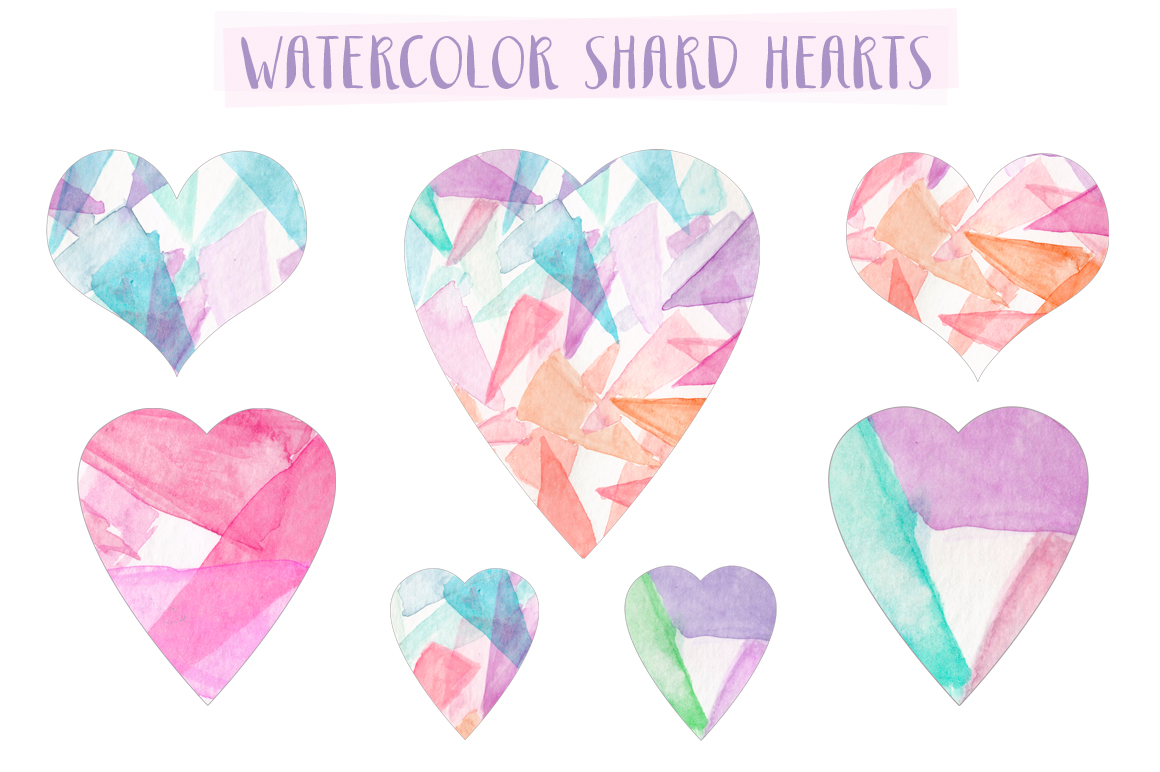 Hearts clipart watercolor. Free heart cliparts download