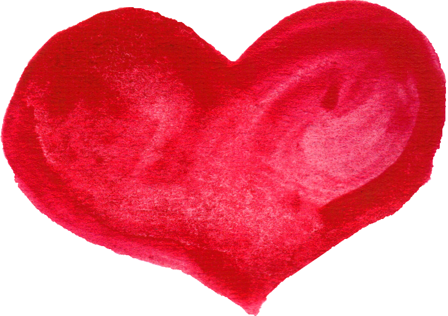Clipart hearts watercolor.  red heart png