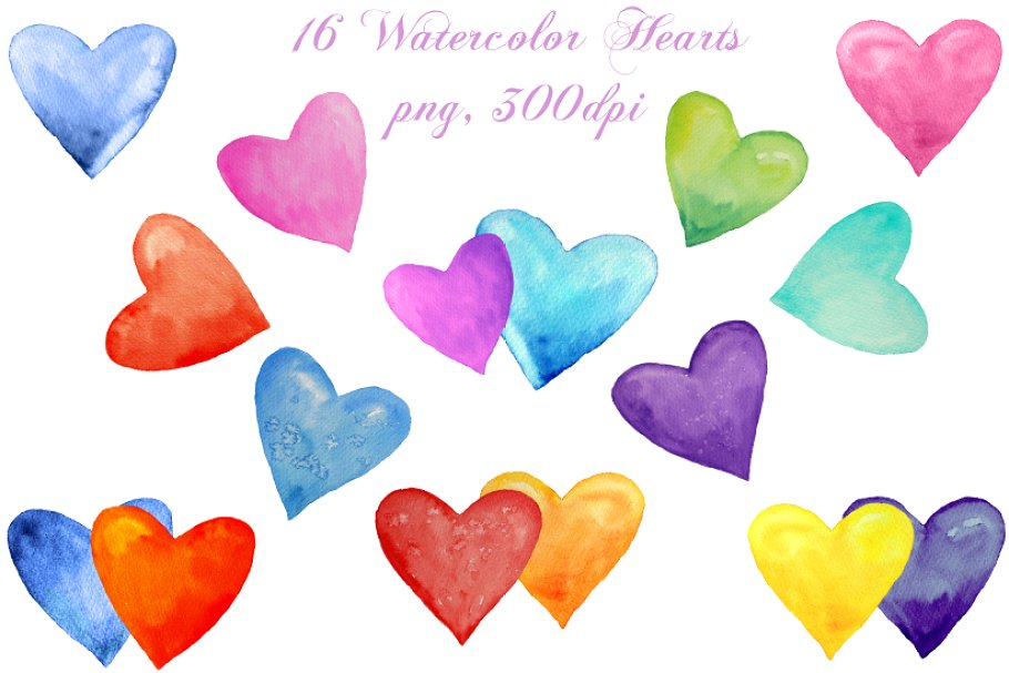 Clipart hearts watercolor. Heart