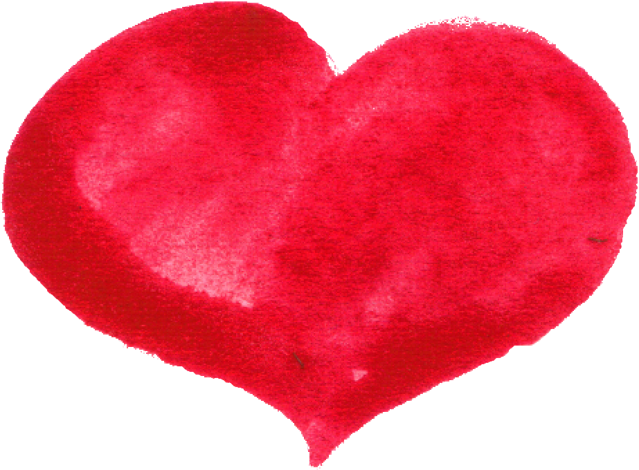 red heart png. Valentine clipart watercolor
