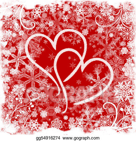 Hearts clipart winter. Drawing love in gg