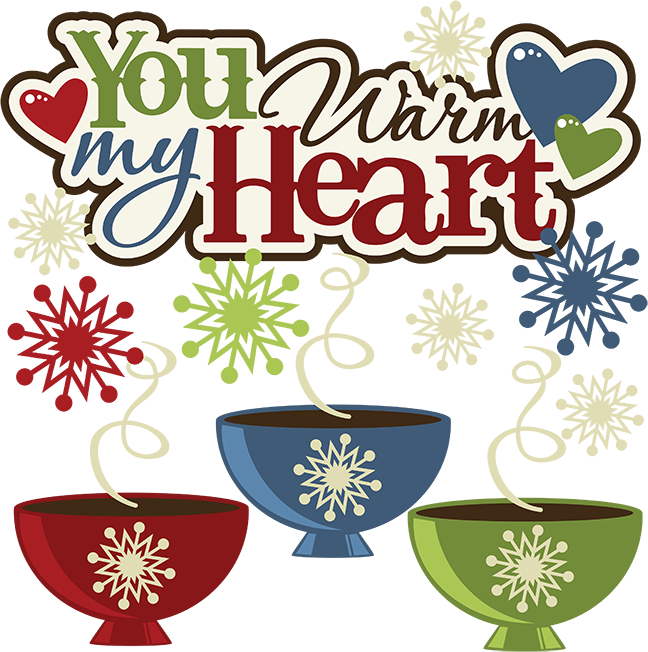 You warm my heart. Hearts clipart winter