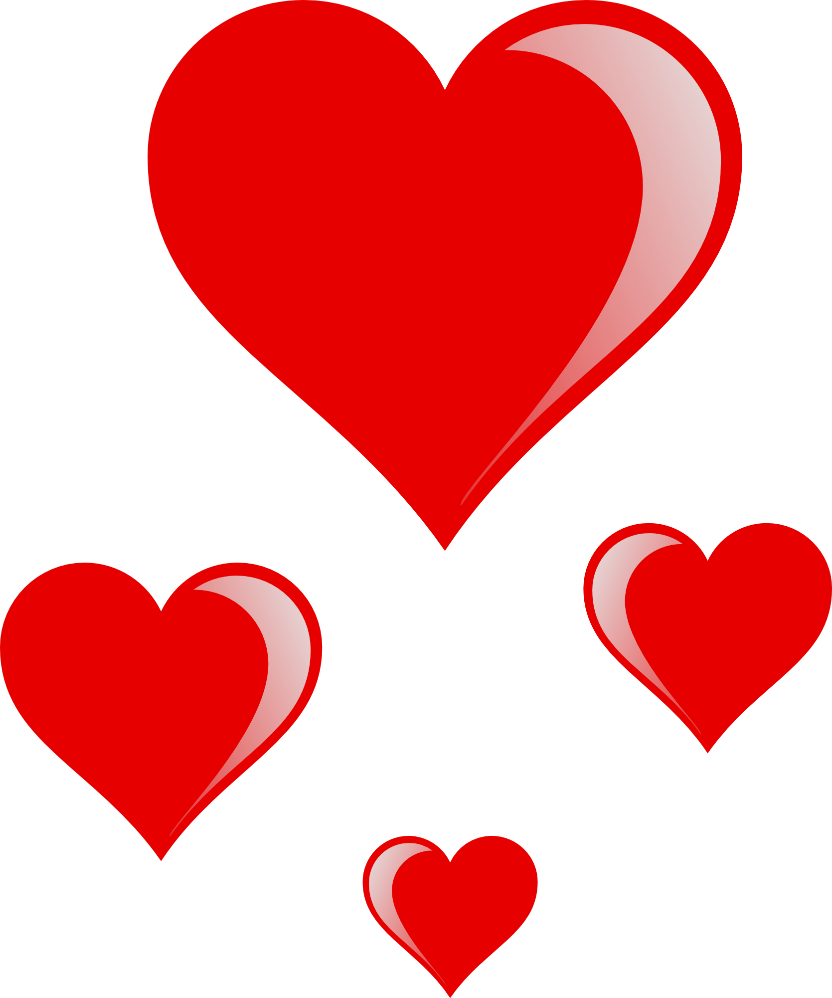 Hearts clipart man. Valentine heart cluster px