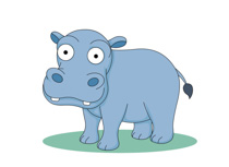 Free clip art pictures. Hippo clipart