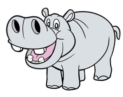 Clipart hippo. Wonderful looking side clip