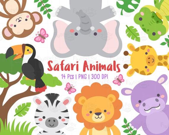 Safari animals wildlife animal. Clipart hippo alligator