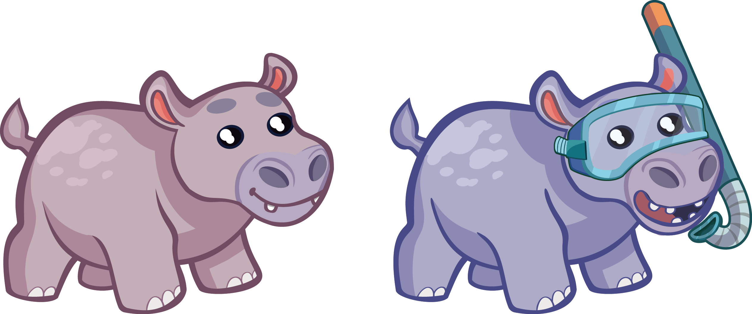 Hippo clipart simple. Cartoon drawing at getdrawings