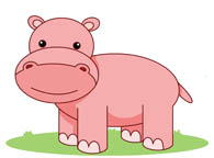 Hippo clipart cartoon. Free clip art pictures