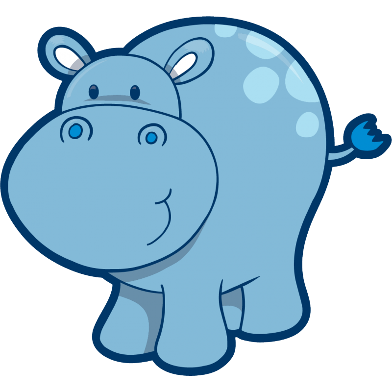 Stickers hippopotamus sticker animal. Clipart hippo baby hippo