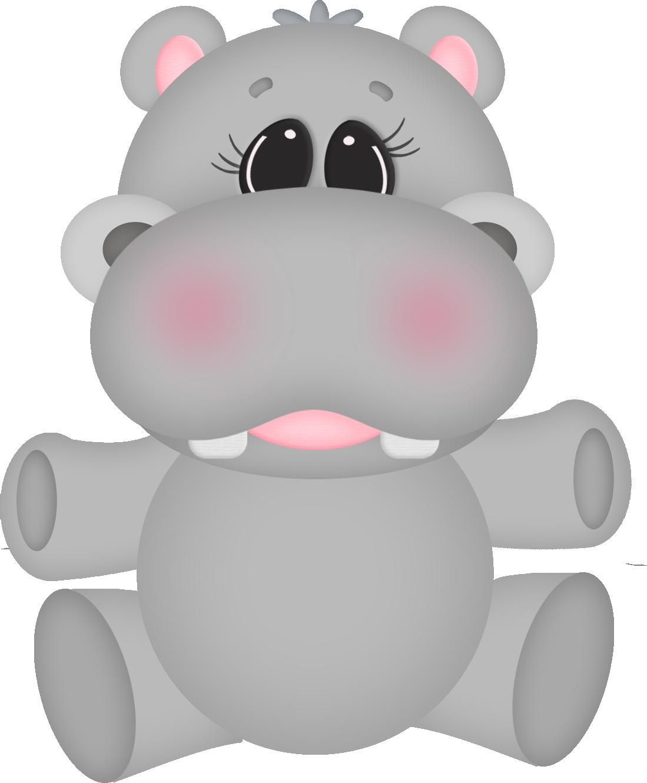 Clip art bebes pinterest. Clipart hippo baby hippo