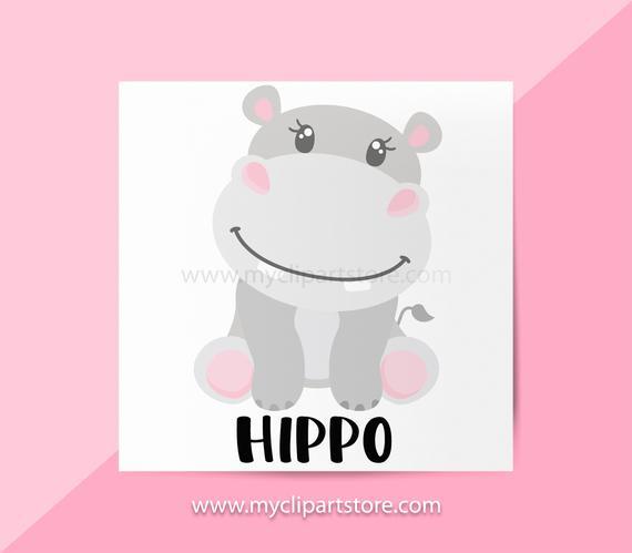 Hippo single animals african. Hippopotamus clipart jungle