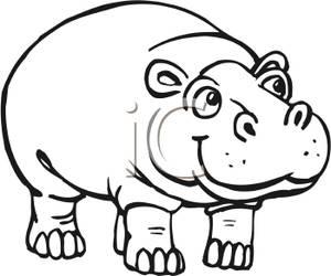 Clipart hippo black and white. Clip art panda free