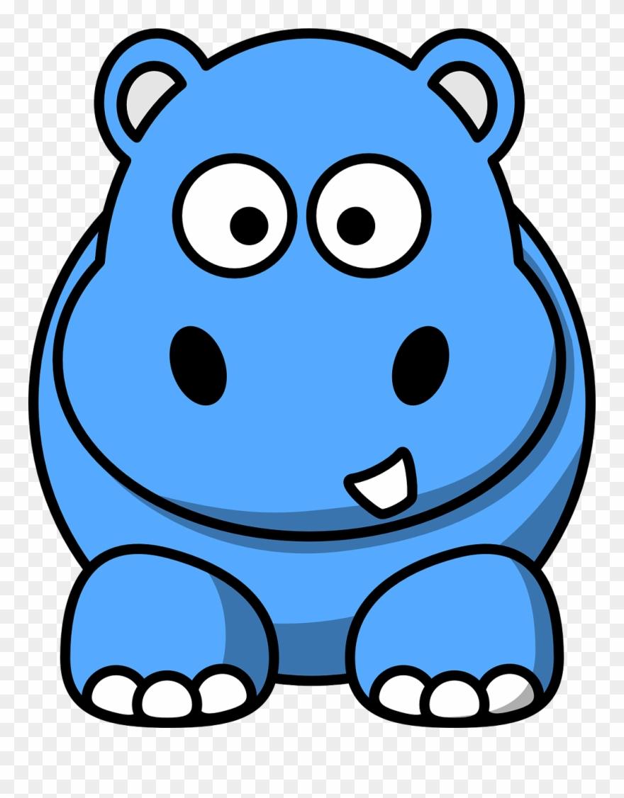 clipart hippo blue hippo